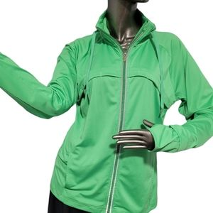 Champion Lime Green Women's Track Jacket Large